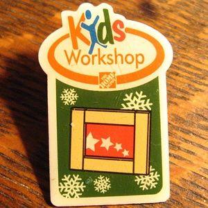 Home Depot Kids Workshop Christmas Lapel Pin